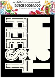 Dutch Card Art Text 'Feest' 470.713.639