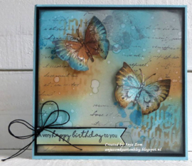 Cling stamp  MM1613 Tiny's butterfly 1