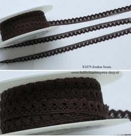 Artikel K1079 linnenkant Donkerbruin 10mm.
