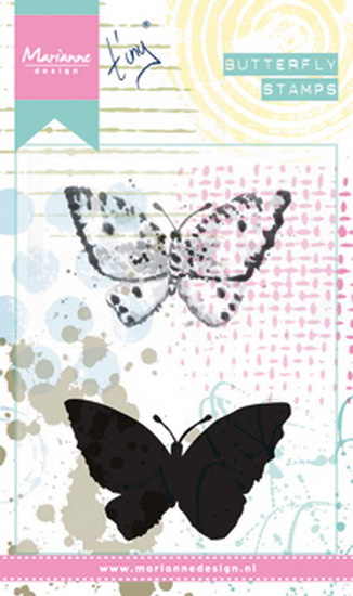Cling stamp  MM1614 Tiny's butterfly 2