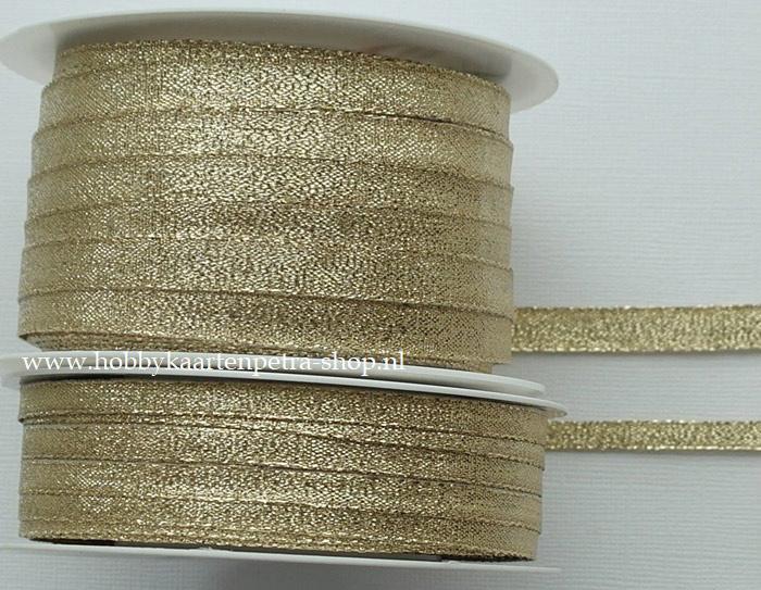 KH1005 Lurex Ribbon goud 6mm - 10mm
