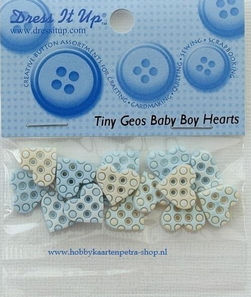 Dress It Up: Tiny Baby Boy Hearts 5421