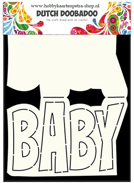 Dutch Card Art Text 'Baby' 470.713.647