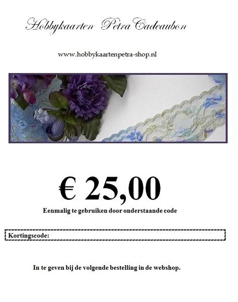 Cadeaubon voor € 25,00