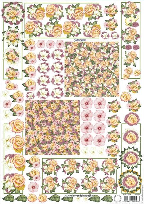 3D 529 Diny's zomerbloemen