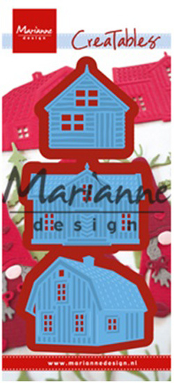 Creatables LR0555 Scandinavian houses (set of 3)