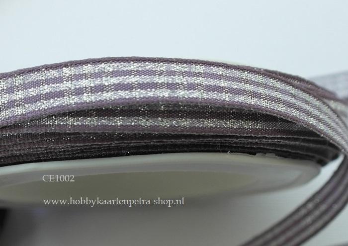 CE1002 lint oud lila met zilver 10mm