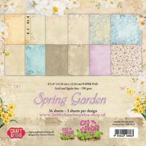 Craft & You paper pad Spring Garden