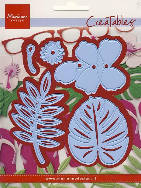 Creatables LR0478 Hibiscus & tropical leaves