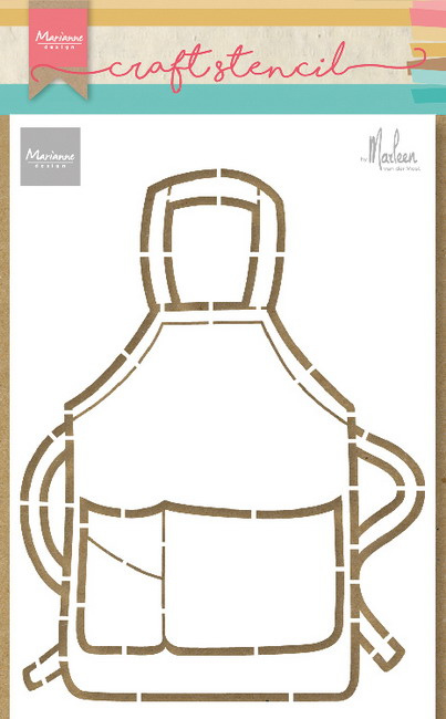 Craft stencil  PS8085 - Apron by Marleen