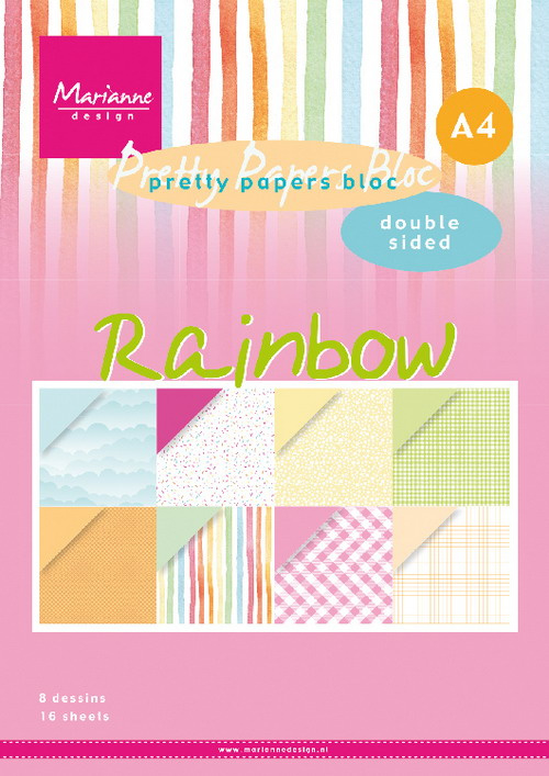 PK9175 - Papier blok Rainbow A4 double sided