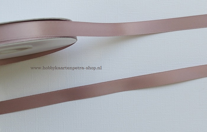 CG1008 Polyester satijn lint Taupe 10mm
