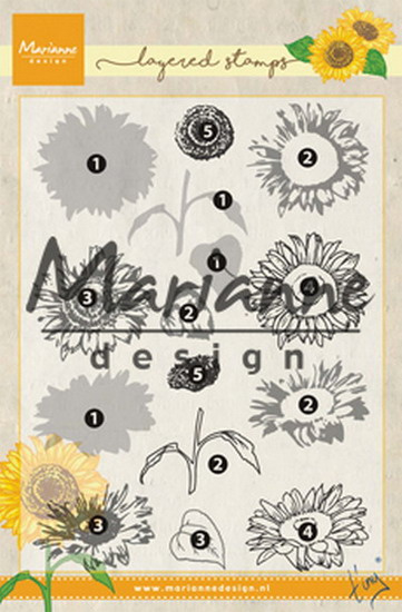layered stamp TC0865 Sunflower