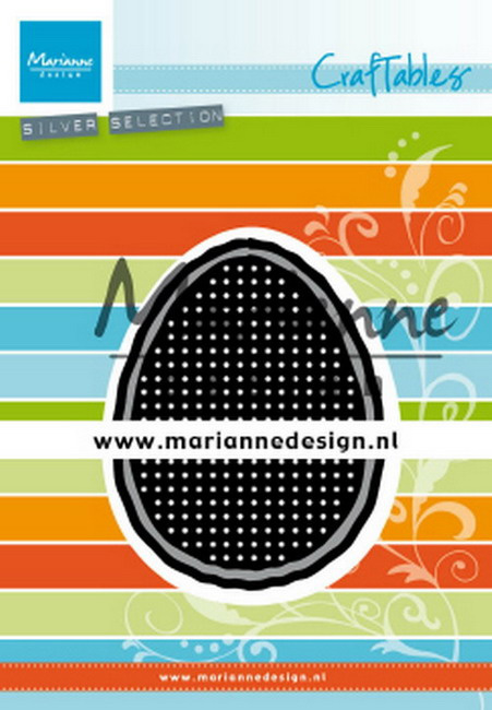Craftables CR1497  Cross stitch Easter egg