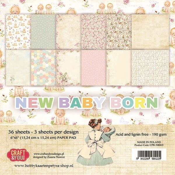 Craft & You paper pad new baby born