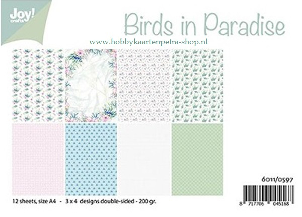 Paper bloc Birds in Paradise 6011/0597