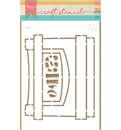 Craft stencil PS8048 - Fire Place by Marleen