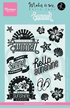 KJ1714 Karin Joan -  stamps Summer