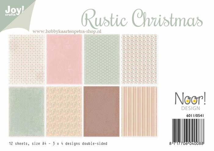 Paper bloc  Rustic Christmas 6011/0541