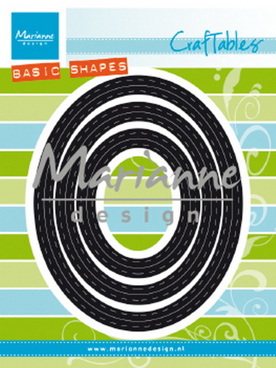 Craftables CR1467 Basic passe-partouts Ovals