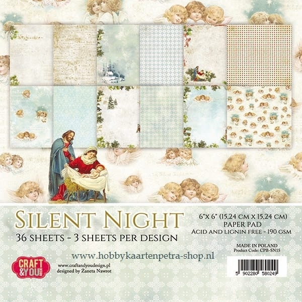 Craft & You paper pad Silent Night