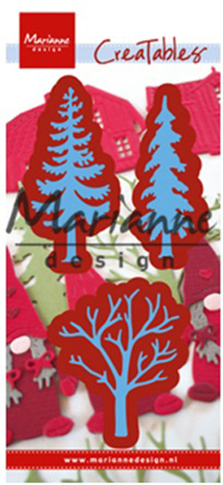 Creatables LR0556 Forest trees (set of 3)