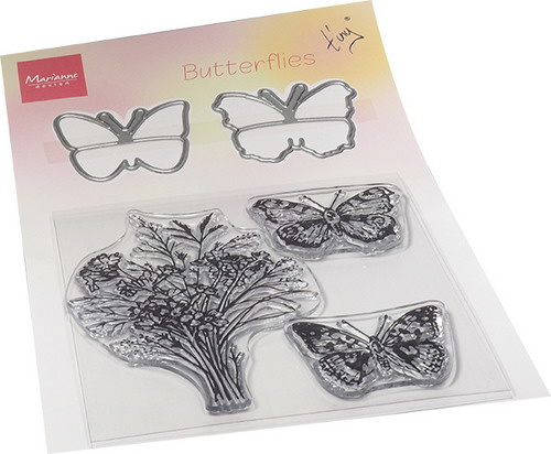 TC0879  Tiny's Butterflies  set (3 stamps & 2 dies)