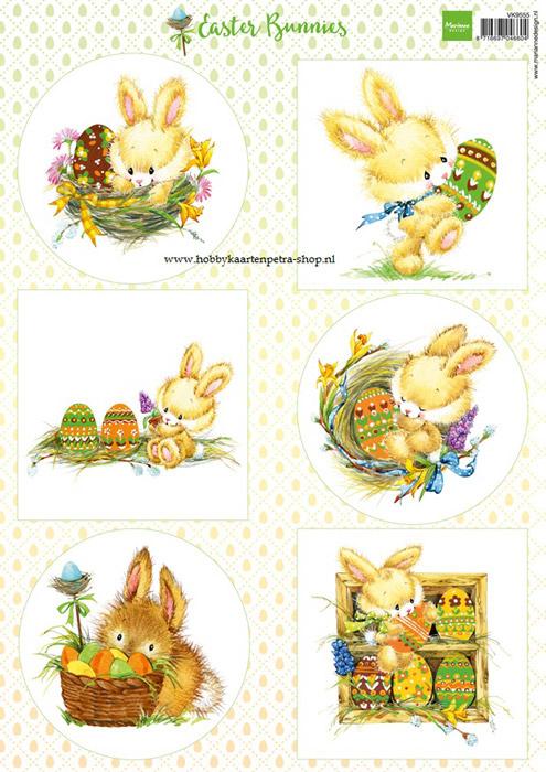 VK9555 Easter bunnies
