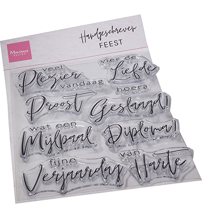 Clear stamps  CS1086 Handgeschreven - Feest
