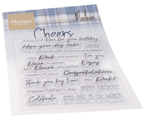 Clear stamps CS1057 Cheers by Marleen