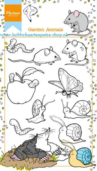 Clear stamps HT1614 Garden animals
