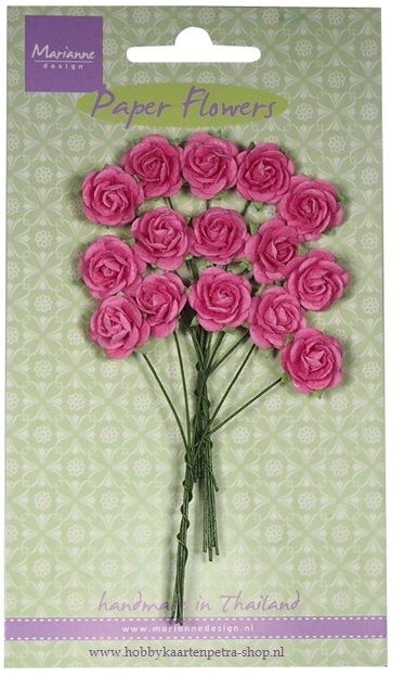 Paper Flowers Rose - bright pink RB2246