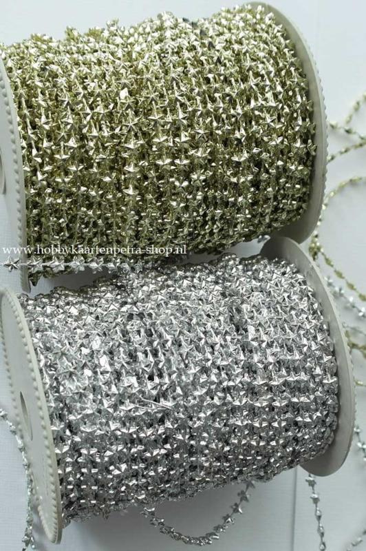 KH1011 Stars String Plastic  Gold - zilver 0,5cm