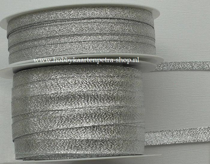 KH1006 Lurex Ribbon zilver 6mm - 10mm