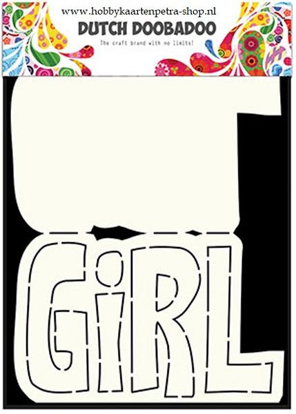 Dutch Card Art Text 'Girl' 470.713.649