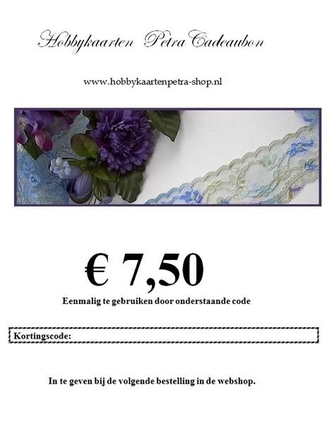 Cadeaubon voor € 7,50