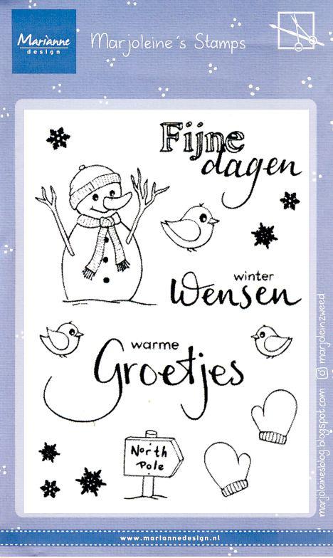 Clear stamps MZ1905 Marjoleine's sneeuwman