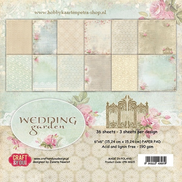 Craft & You paper pad Wedding Garden
