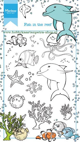 Clear stamps HT1618 Fish in the reef