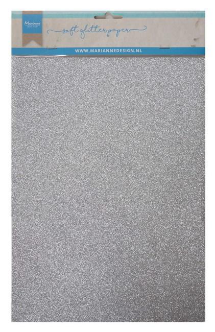 CA3142 Soft glitter paper - silver
