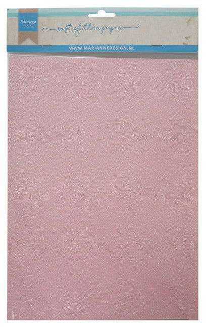 CA3148 Soft glitter paper - light pink