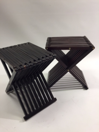 vintage danish folding stool