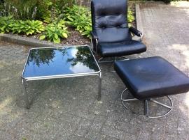 Jaren 70 Gelderland fauteuil  plus hocker Jan des Bouvrie