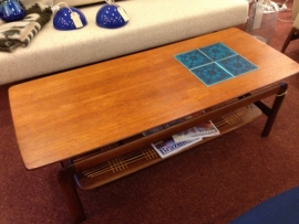 Vintage teak wooden coffee table 1960
