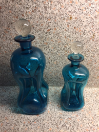 Holmegaard glass Kluk kluk decanters Danish design