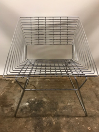 Rare Verner Panton wire chairs produced by Fritz Hansen