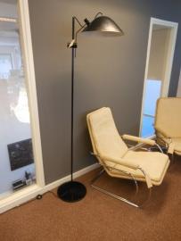 Retro jaren 60 metalen vloerlamp / Vintage sixties metal floorlamp