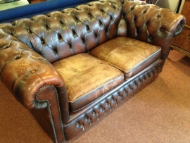 Vintage original Chesterfield two-seater