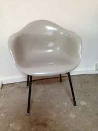 Industrial vintage fiberglass chairs 1950 franse bijzet stoel