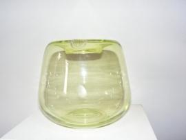 Twee glazen Veip vazen/Two vases glass marked Veip